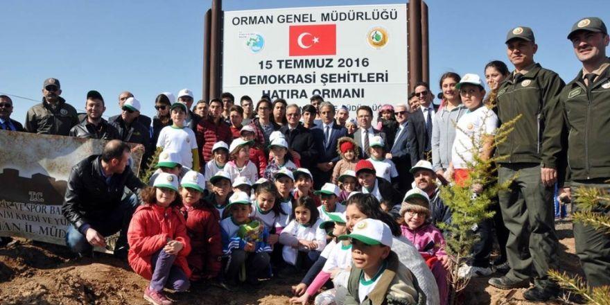 Şehitlerin isimleri 15 Temmuz Hatıra Ormanında yaşatılacak