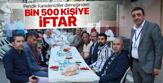 Pendik Karadenizliler derneğinden bin 500 kişiye iftar