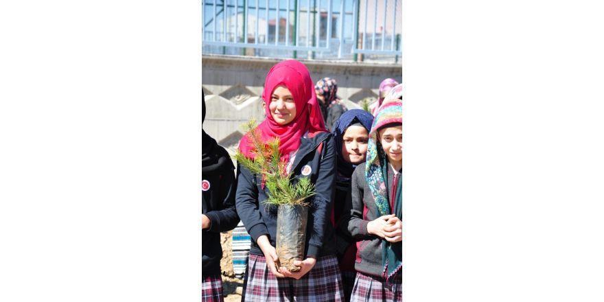Öğrenciler İstanbul'un Fethi anısına 1453 fidan dikti