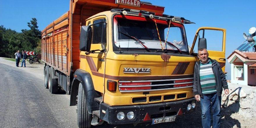 Manisa'da çalınan kamyon bulundu