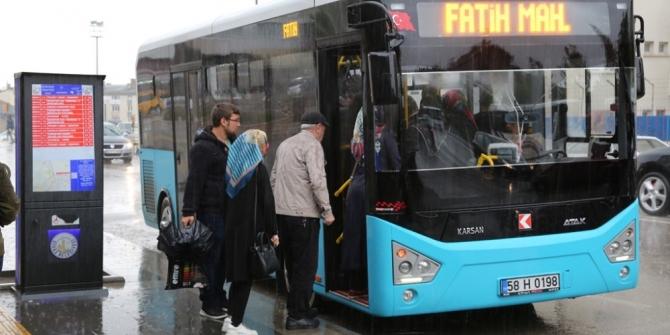 Sivas'ta bayramda ulaşım ücretsiz