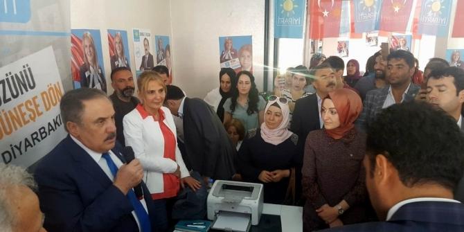 Ensarioğlu Bismil'de seçim bürosu açtı