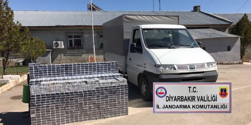 Diyarbakır'da piyasa değeri 54 bin lira olan 13 bin 510 paket kaçak sigara ele geçirildi