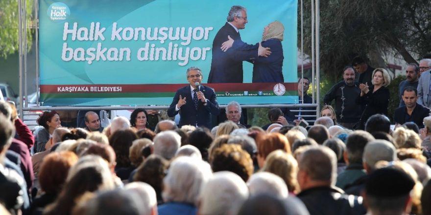 Karşıyaka Belediye Başkanı vatandaşlarla buluştu
