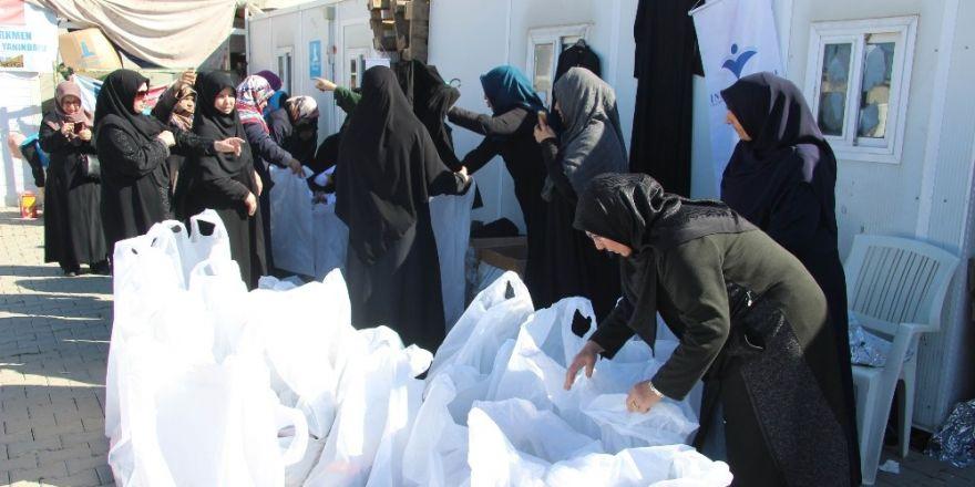 İnsan ve Medeniyet Hareketinden Suriyeli kadınlara insani yardım