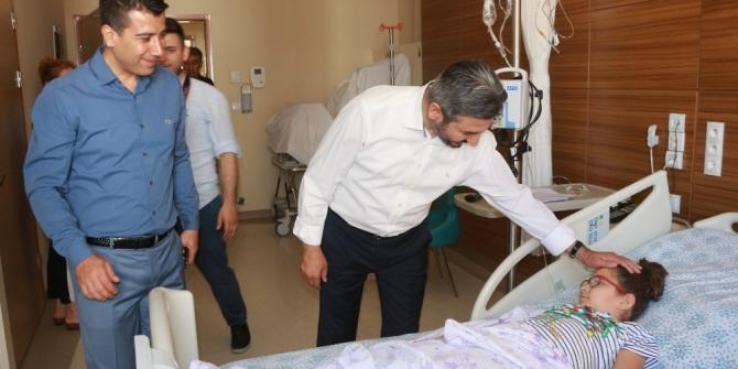 TBMM Başkanvekili Aydın hastalara geçmiş olsun dileğinde bulundu