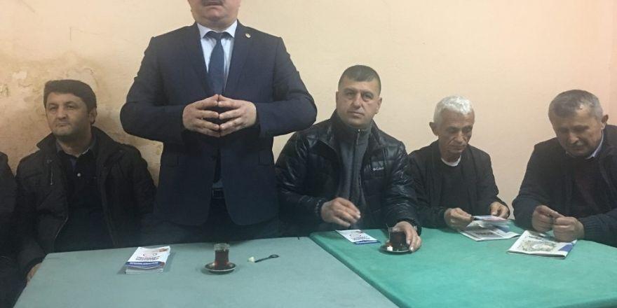 Çaturoğlu, referandum çalışmalarına köylerde devam etti
