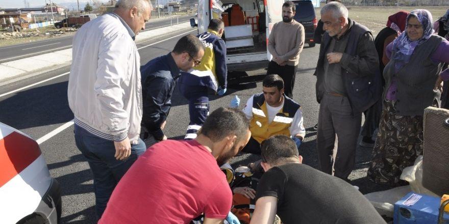 Konya'da triportör devrildi: 2 yaralı
