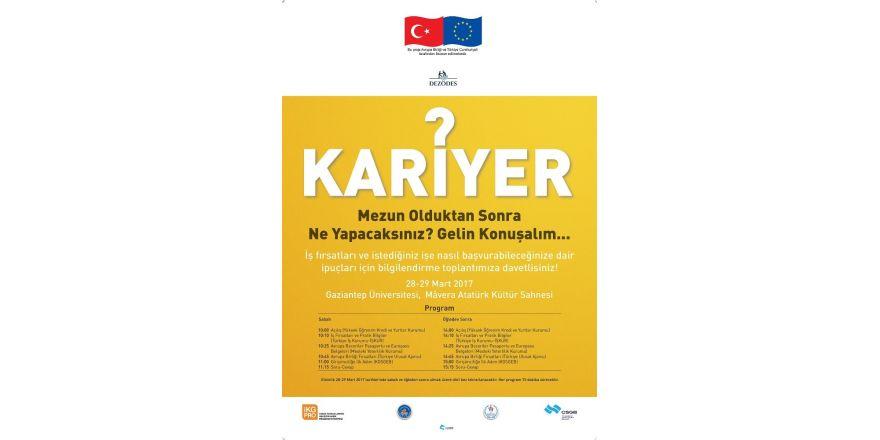 AB destekli Kariyer Rehberliği toplantıları Gaziantep'te yapılacak