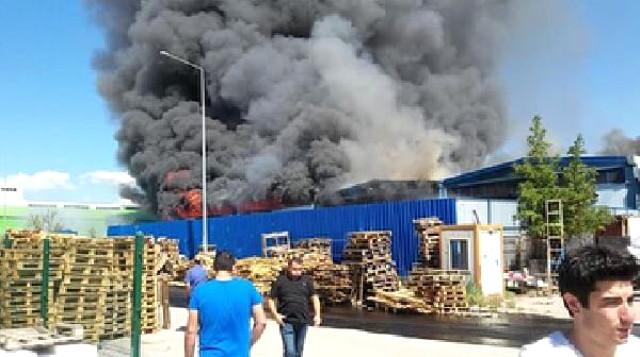 Ankara'da kimyasal dönüşüm fabrikasında yangın!