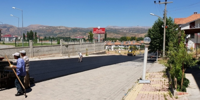 Hastane otoparkında asfaltlama çalışması yapıldı