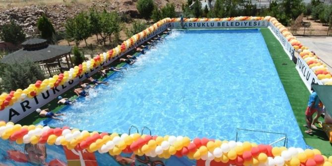 Artuklu'da çocuklara özel havuz