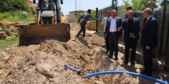 Mardin'de kırsal mahallelerin içme suyu sorunu gideriliyor