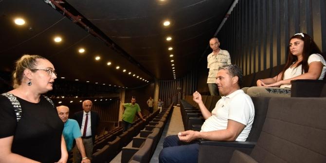 Başkan Uysal, Türkan Şoray Kültür Merkezi inşaatını inceledi