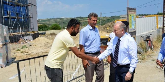 Tekirdağ Valisi Şarköy'de yatırımları inceledi