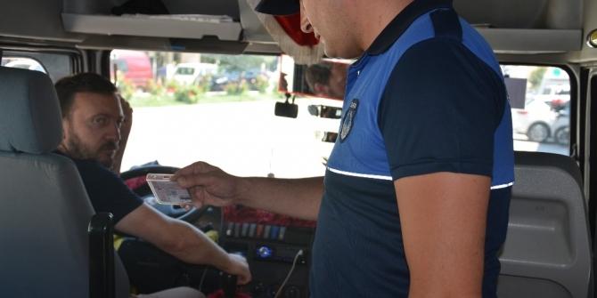 Zabıta Müdürlüğü'nden dolmuş ve otobüslerde klima denetimi