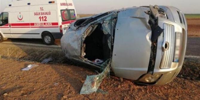 Ceylanpınar-Kızıltepe yolunda kaza: 1 ölü, 6 yaralı
