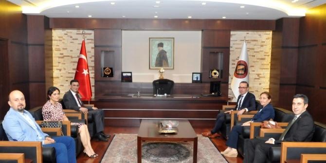 Gaziantep Vergi Dairesi Başkanı Halil Tekin'den GSO'ya ziyaret
