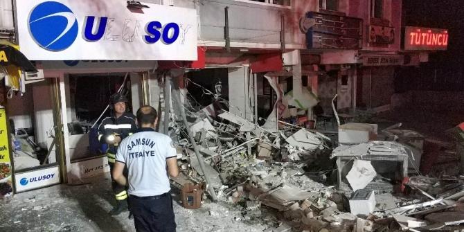 Samsun'da şiddetli patlama kamerada