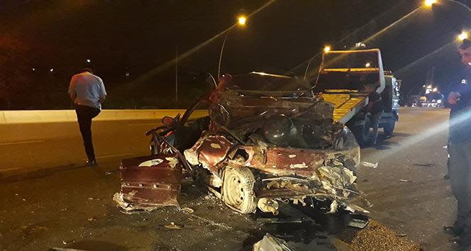 Samsun'da yanan araçta 3 genç can verdi