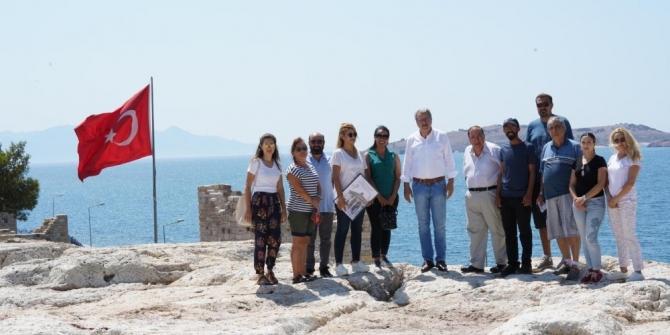 Rektör Budak, arkeolojik kazı alanlarına ziyaretlerini sürdürüyor