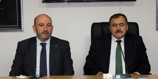 Veysel Eroğlu'ndan, AK Parti'ye ziyaret