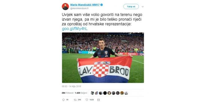 Mario Mandzukic, Milli Takımı bıraktı