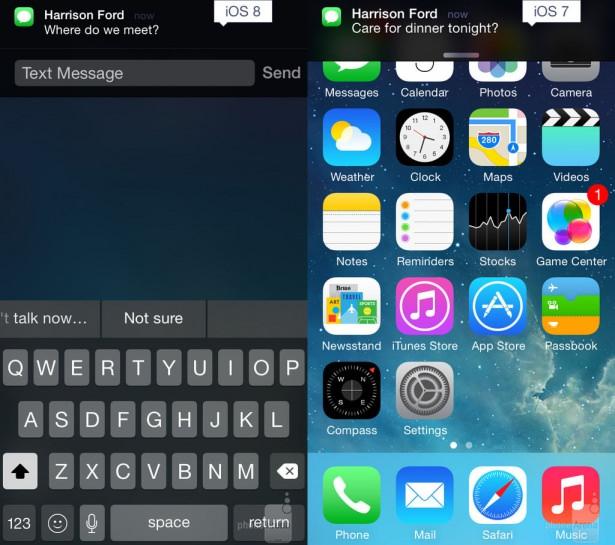 iOS7 ve iOS8 arasındaki farklar