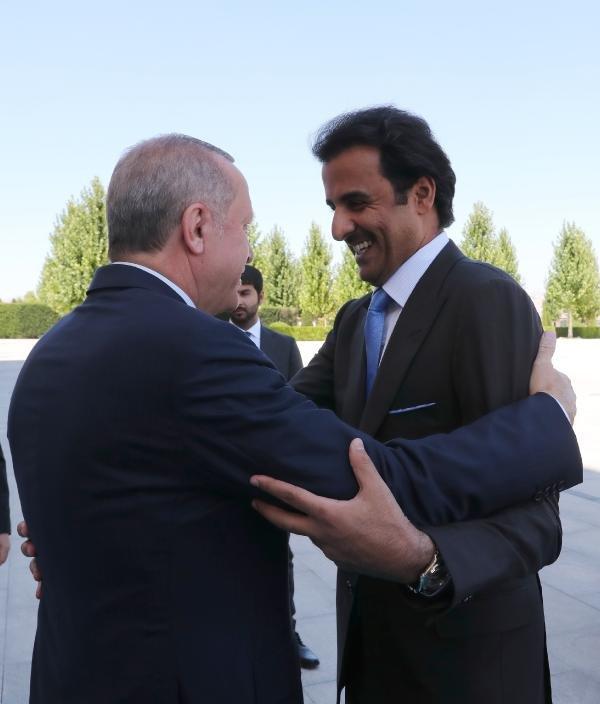 Erdoğan ile Katar Emiri'nin görüşmesi sona erdi!