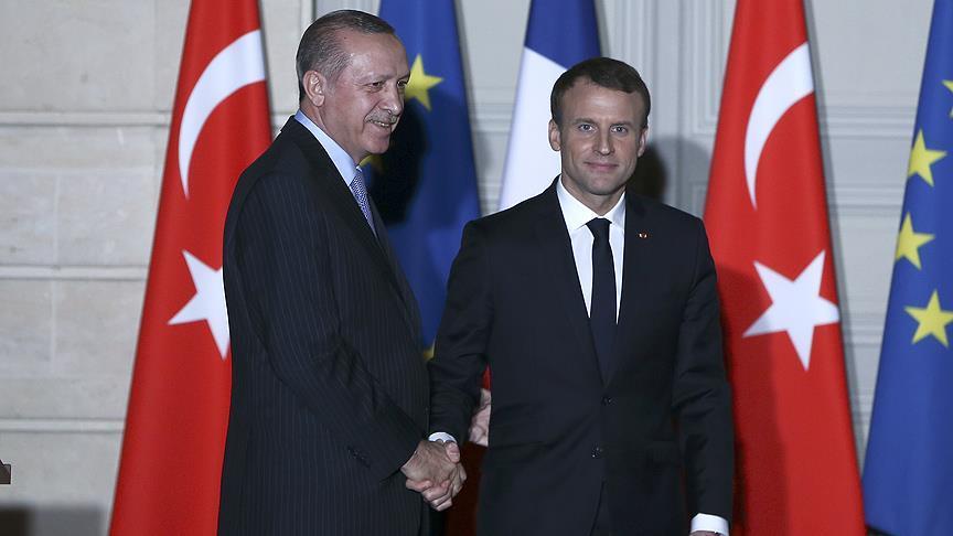 Başkan Erdoğan, Fransız Cumhurbaşkanı Macron ile görüştü
