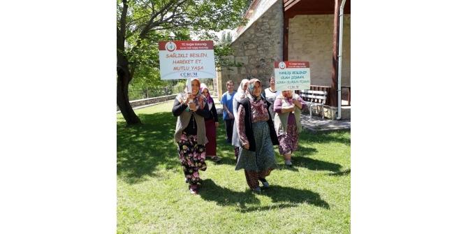 Kargı'da kadınlar sağlıklı yaşam için yürüdü