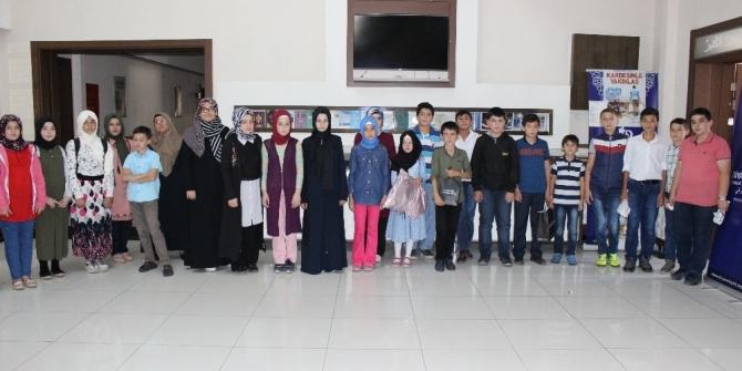 Yaz Kur'an Kursunda eğitim gören öğrenciler arasında bilgi yarışması düzenlendi