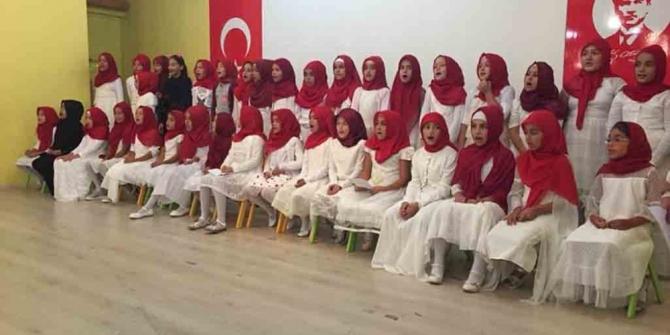 Erdek'te Yaz Kuran kursları sona erdi