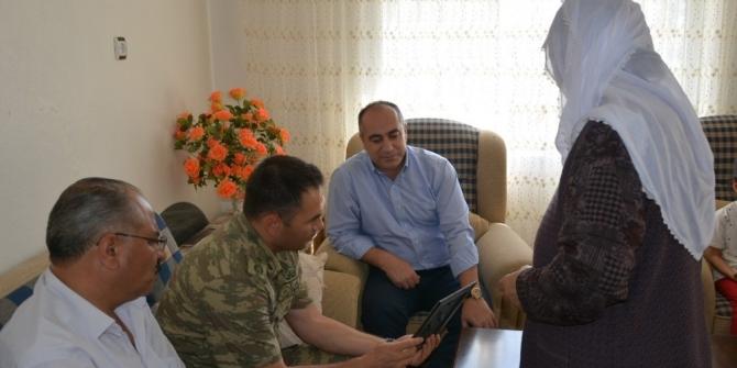 Patnos'ta şehit aileleri ziyaret edildi