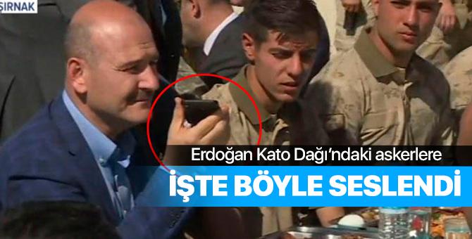 Başkan Erdoğan Kato Dağı'ndaki askerlere telefonla seslendi