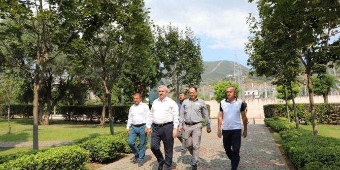Başkan Baran, yapımı devam eden projeleri yerinde inceledi