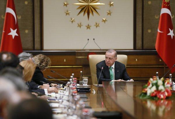 Cumhurbaşkanı Erdoğan ABD'li Şirketlerle Görüştü