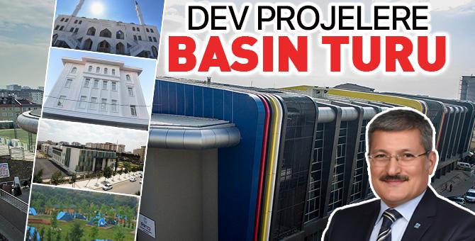 Pendik'teki dev projelere basın turu!