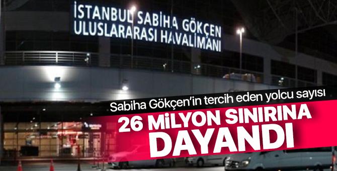 Sabiha Gökçen'in tercih eden yolcu sayısı 26 milyon sınırına dayandı