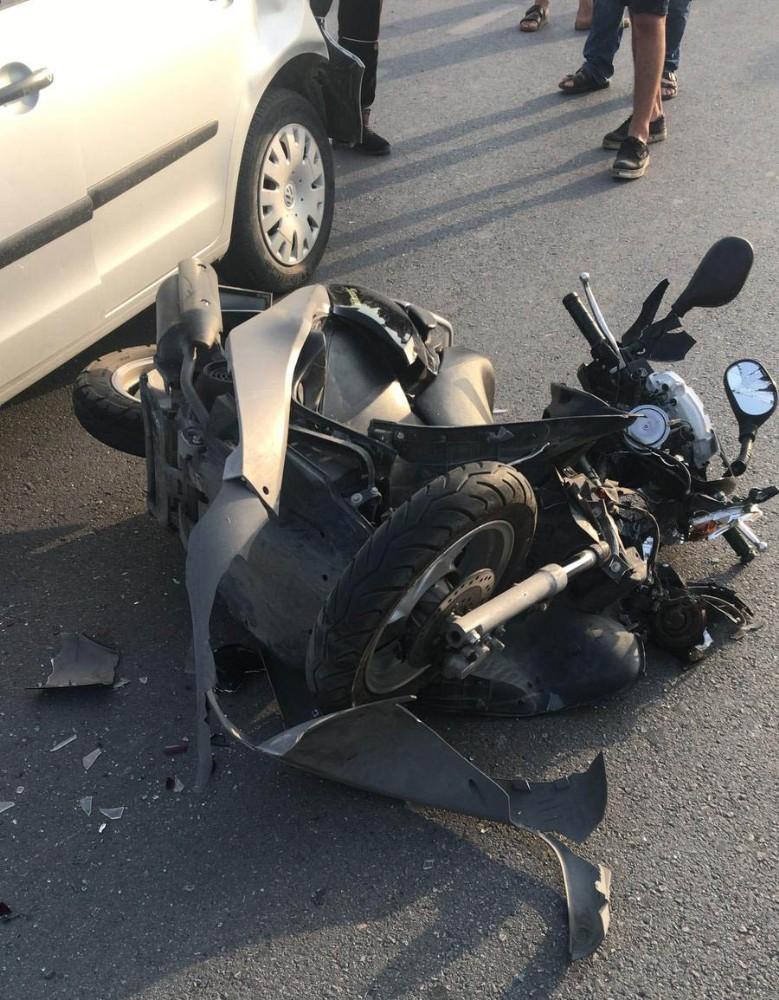 Hatay'ın Arsuz ilçesinde  trafik kazası: 1 ağır yaralı