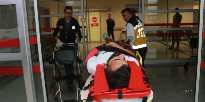 Otomobille tır çarpıştı: 4 Yaralı