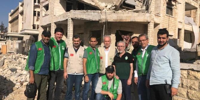Başkan Saraçoğlu ve İHH Kütahya Şubesi heyeti İdlip'de