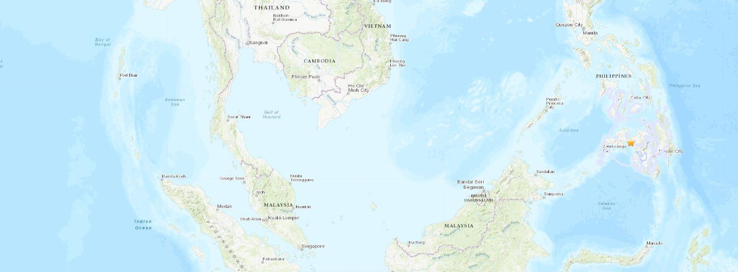 Filipinler'desabah 07:55'te 6.0 büyüklüğünde bir deprem meydana geldi.