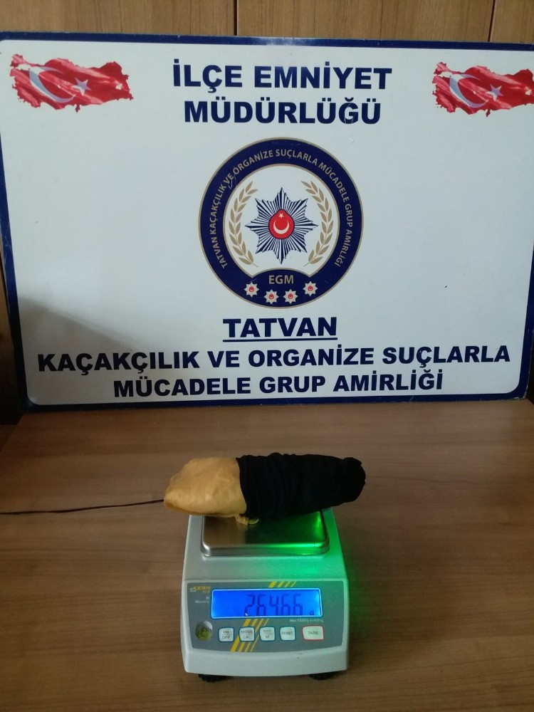Bitlis'te uyuşturucu operasyonu, 264,66 gram metamfetamin ele geçirildi
