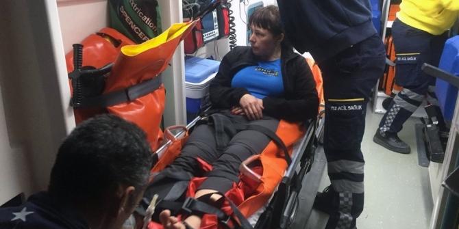 Ukraynalı turist Sahil Güvenlik ekiplerince kurtarıldı