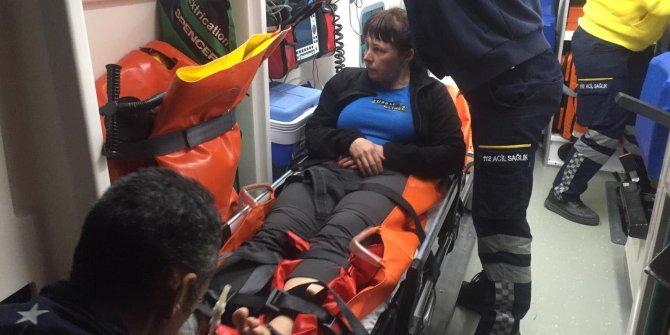 Yaralı turistin yardımınaSahil Güvenlik yetişti