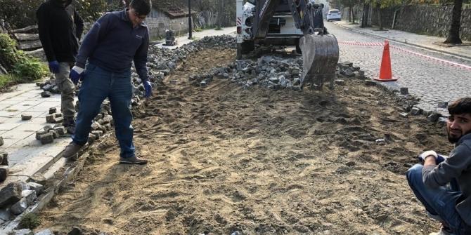 Tarihi kentte onarım çalışması devam ediyor