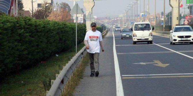 İstanbul'dan CHP Genel Merkezi'ne yürüyen yerel gazeteci Düzce'ye ulaştı