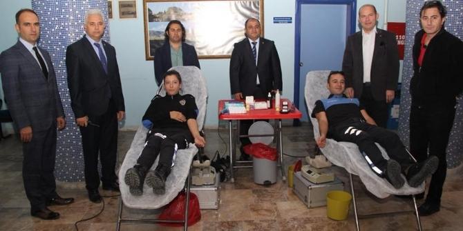 Muğla emniyetinden kan bağışı kampanyası