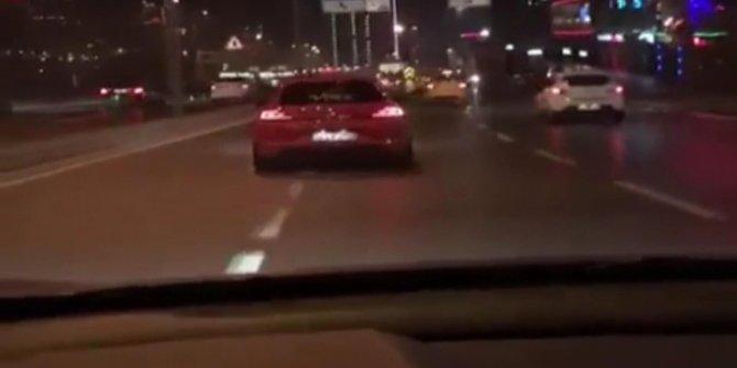 İstanbul'da makas atan sürücü yakalandı